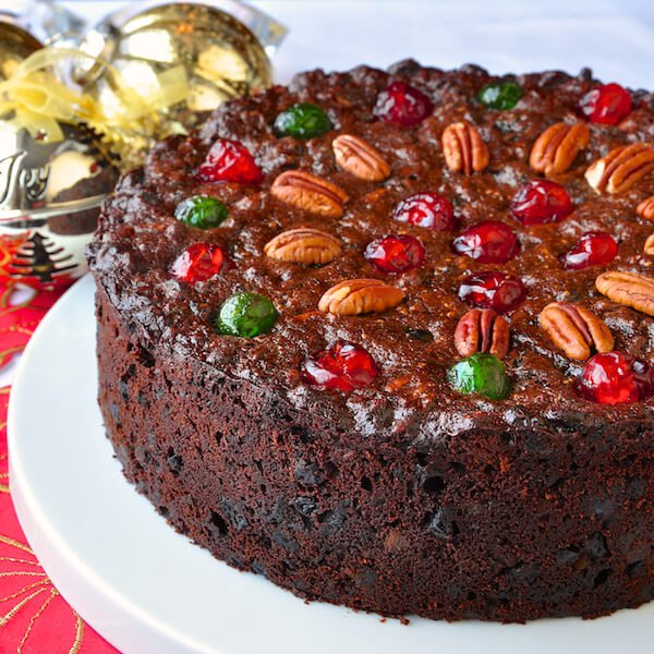 Traditional English Christmas Fruit Cake