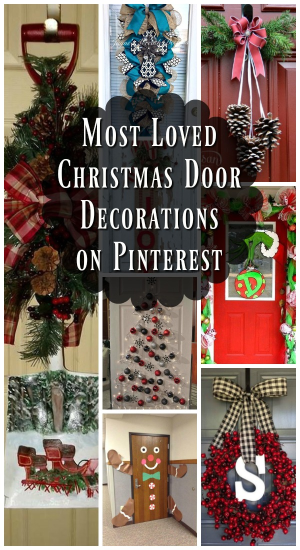 christmas door decorating ideas pinterest - Best Christmas Door Decorations