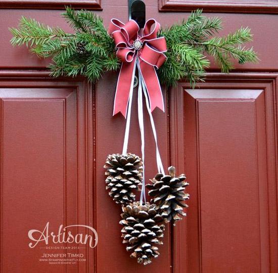 Incroyable Glittered Pinecone Door Hanger. Christmas Door Decorations Pinterest 16