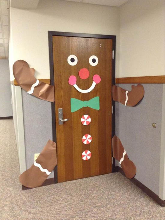 christmas door decorations pinterest 21 - Christmas Dorm Door Decorations