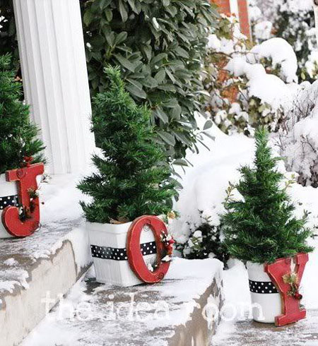 christmas outdoor decorations pinterest 10 - Joy Outdoor Christmas Decoration