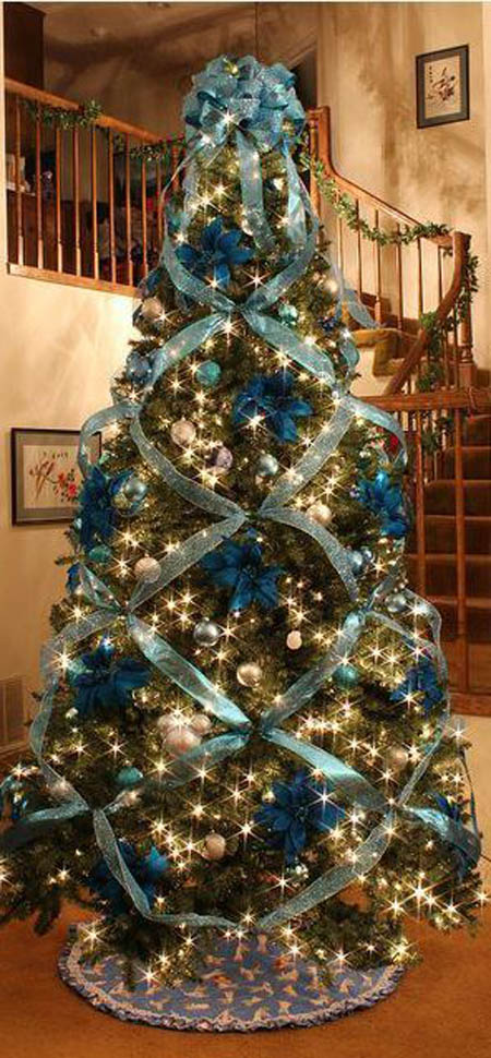 christmas tree pinterest 15 - Peacock Blue Christmas Decorations