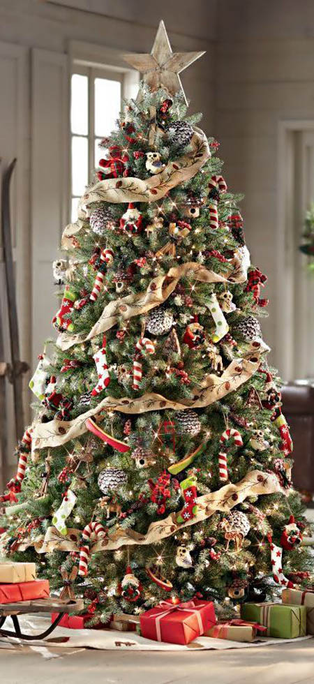 Decorate your Christmas tree with this idea - 30 Gorgeous Christmas Tree Decorating Ideas You Should Try This Year