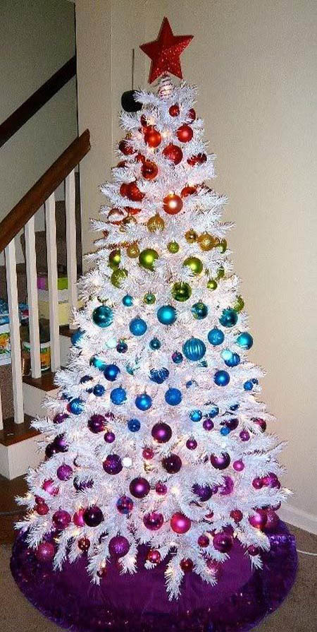 christmas tree pinterest 31 - White Christmas Tree Decorations
