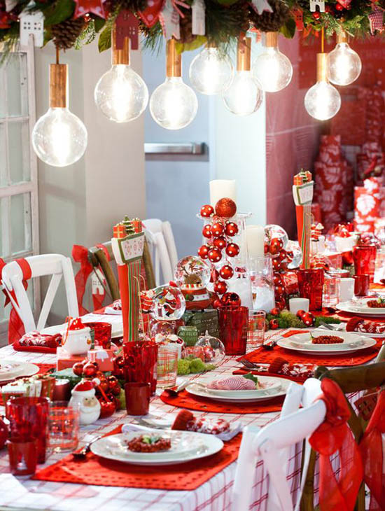 40 elegant christmas decorating ideas and inspirations for Mesa de navidad elegante