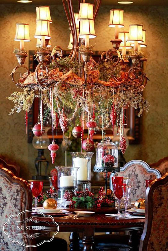 elegant christmas decorating ideas 20 - Elegant Christmas Dining Room Decorations