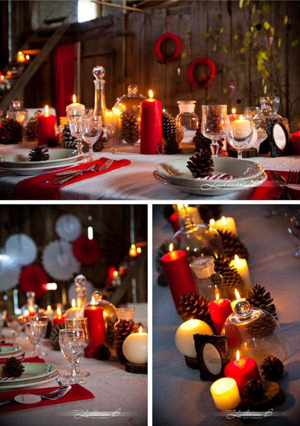 40 elegant christmas decorating ideas and inspirations for Table noel rouge et blanc