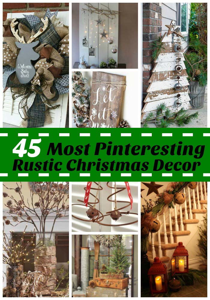 rustic-christmas-decorations-on-pinterest