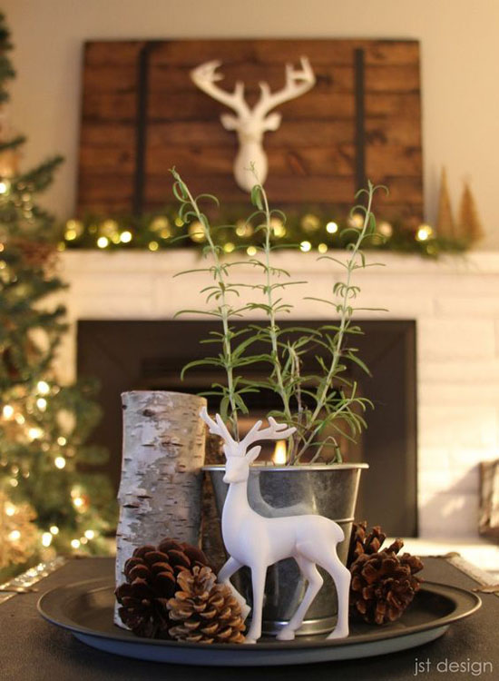rustic christmas decorations pinterest 12