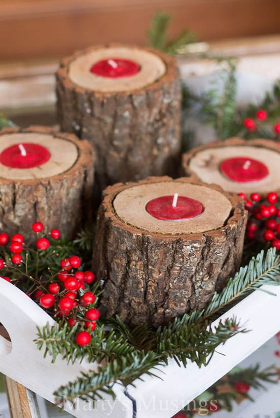 rustic christmas decorations pinterest 17 - Rustic Christmas Decor