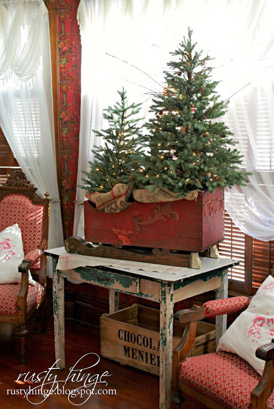 45 most pinteresting rustic christmas decorating ideas for Christmas home decorations pinterest