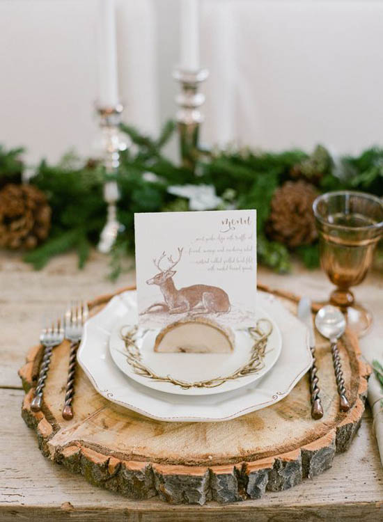 Rustic christmas decorations pinterest 34 all about Christmas place setting ideas