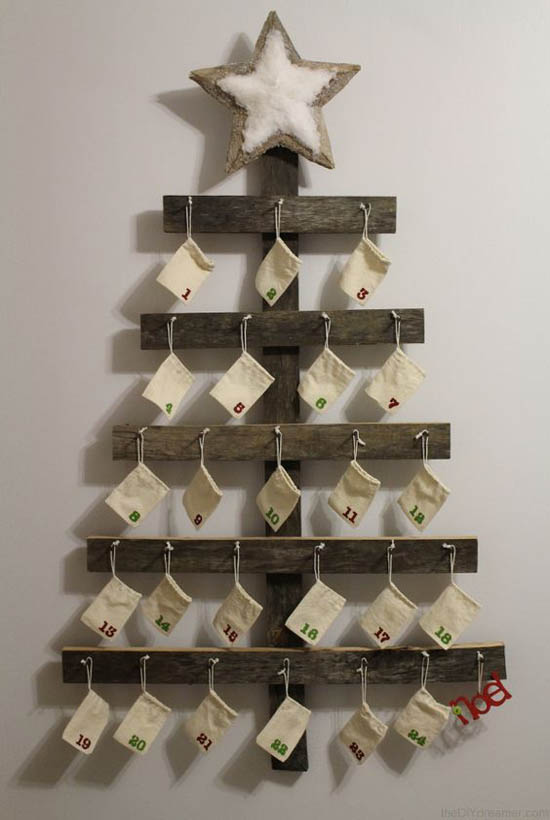 Diy Giant Calendar : Most pinteresting rustic christmas decorating ideas