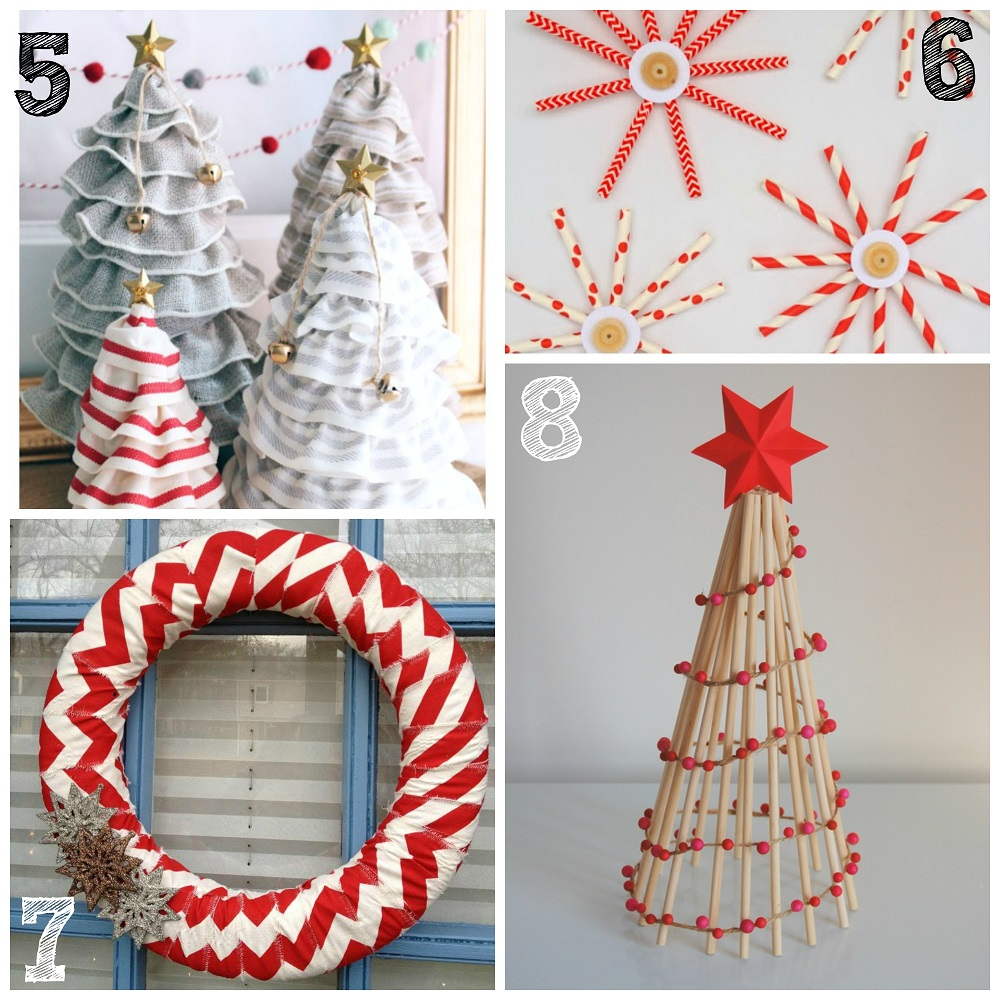 Simple Christmas Home Decorations: 40 Easy Homemade Christmas Decoration Ideas