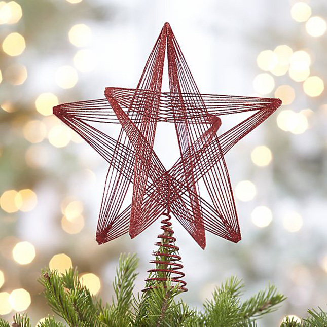10 - Homemade Christmas Tree Topper Ideas