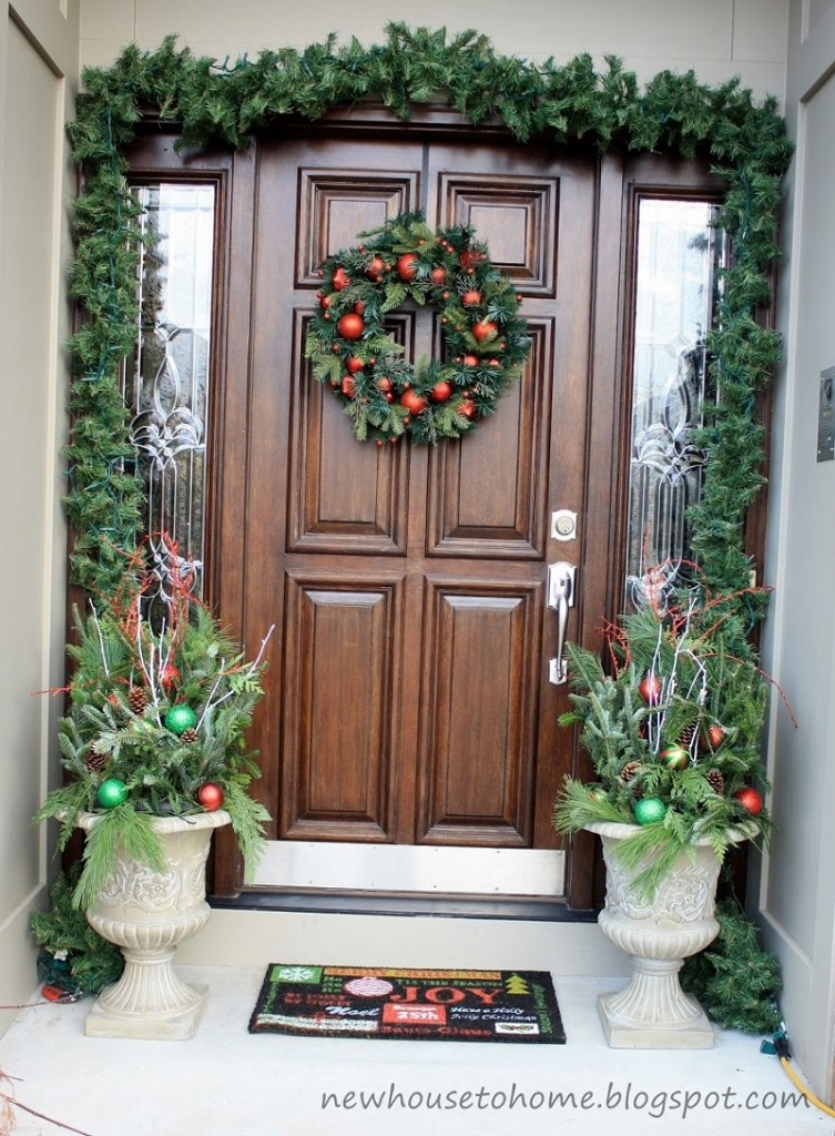 40 appealing christmas main door decoration ideas all - Decoration a la main ...