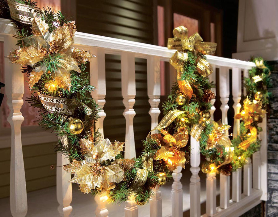 40 Interesting Christmas Garland Decoration Ideas - All About ...