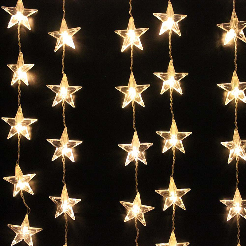 christmas lights stars decorations