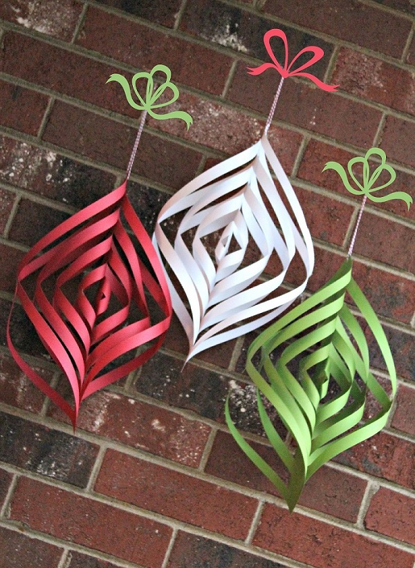 How To Make Paper Christmas Ceiling Decorations : Easy homemade christmas decoration ideas all about