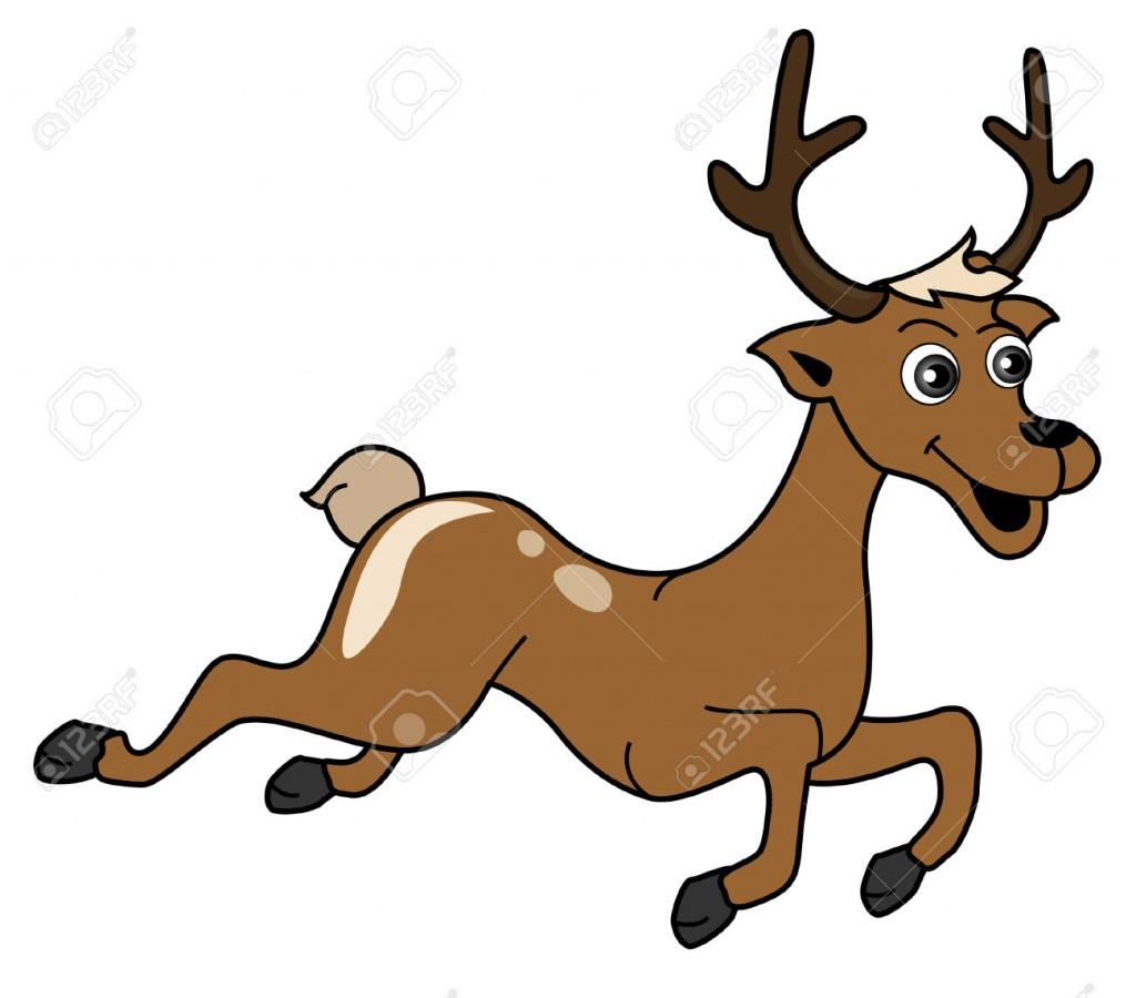 Reindeer Illustration with Clipping Path