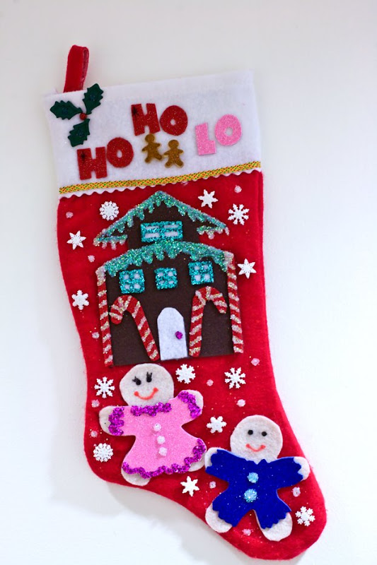 source just one stocking with the correct decoration - Christmas Stocking Decorating Ideas