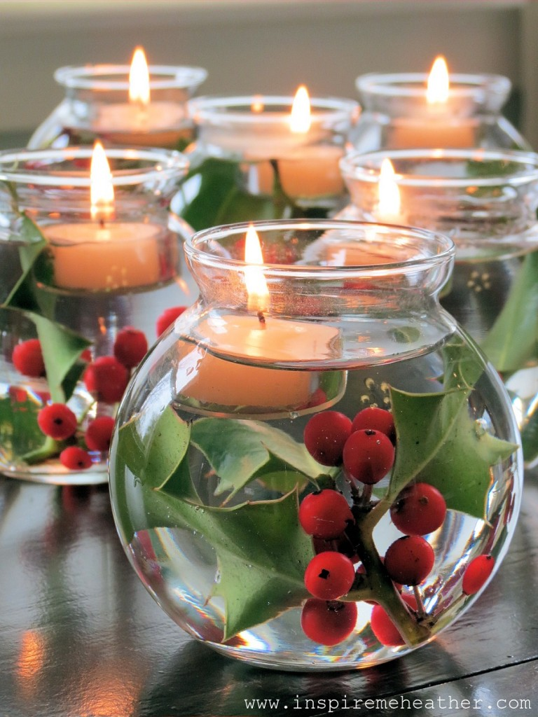 5 - Homemade Christmas Table Decorations