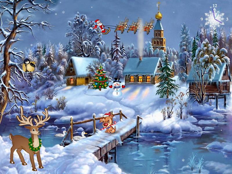 Christmas Countdown Screen Savers.Screensaver Christmas Animated Merry Christmas And Happy