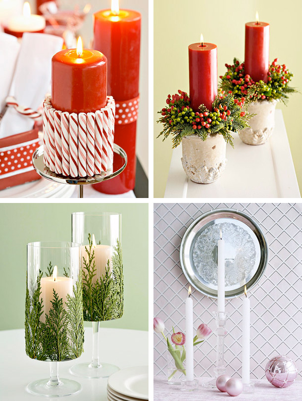1 - Christmas Candle Decorations