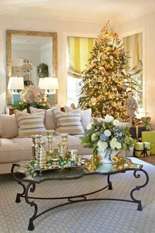 40 fantastic living room christmas decoration ideas all for Decorate my living room
