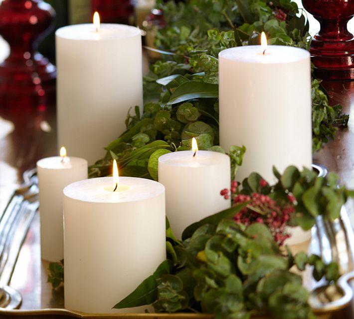 Large Christmas Candle