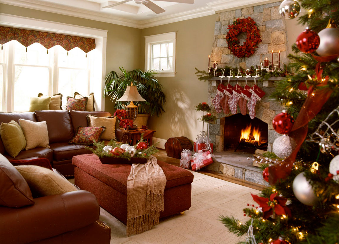 40 fantastic living room christmas decoration ideas all for Interior home christmas decorations