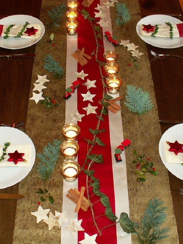 40 Rustic Christmas Tableware Decoration Ideas