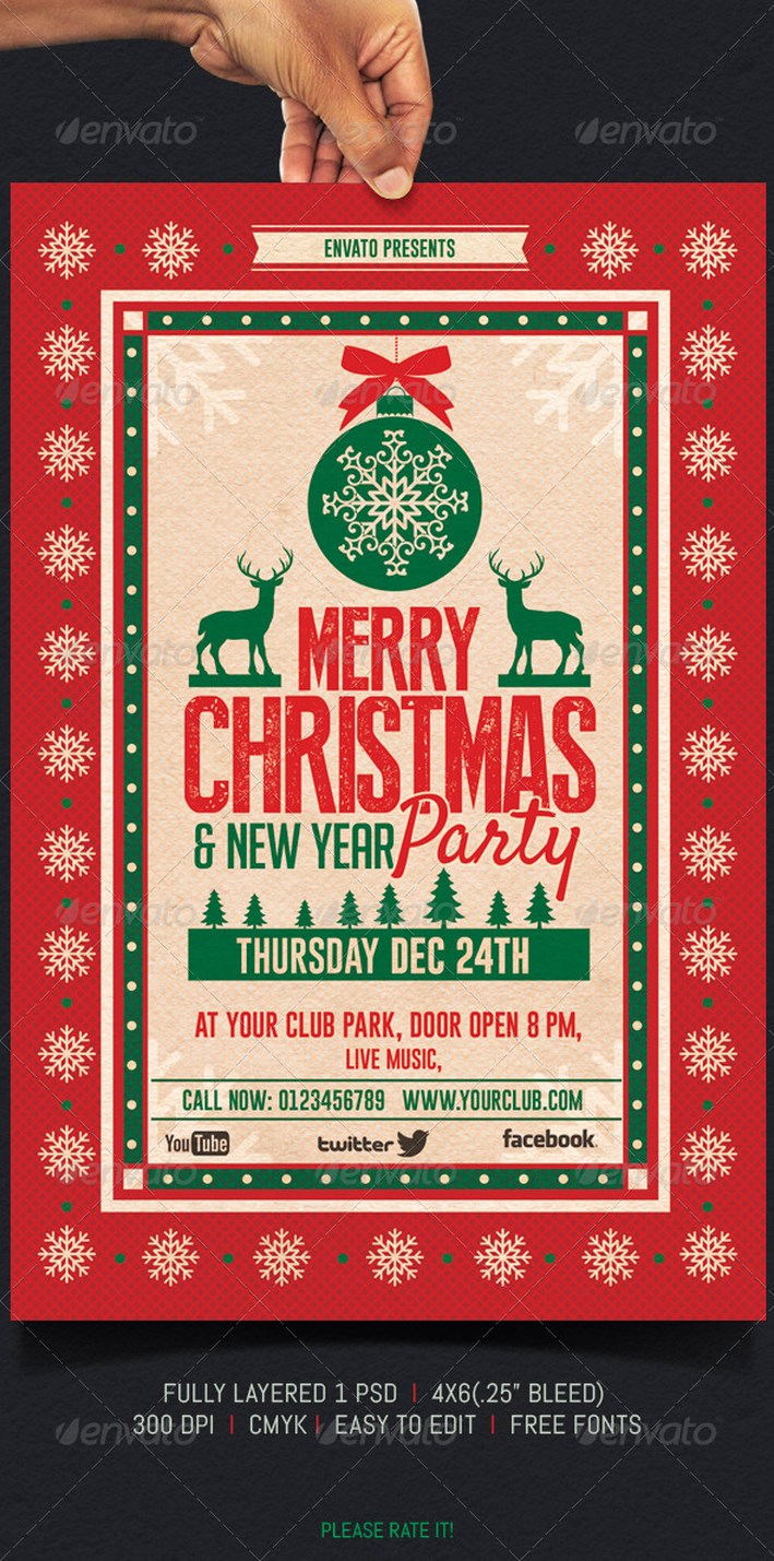 40 appealing christmas poster designing ideas all about christmas 38 party christmas
