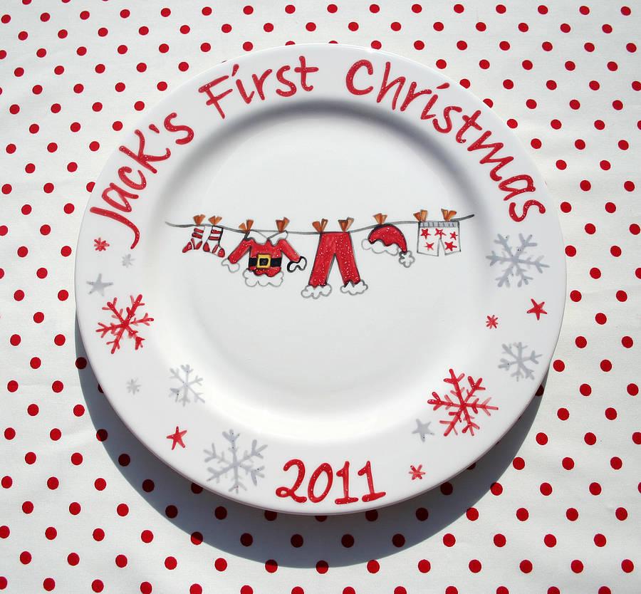 6 - Christmas Plates