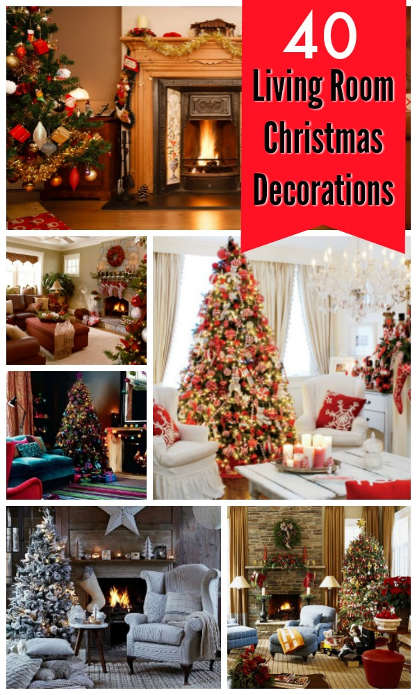 christmas living room decorating ideas - How To Decorate Living Room For Christmas