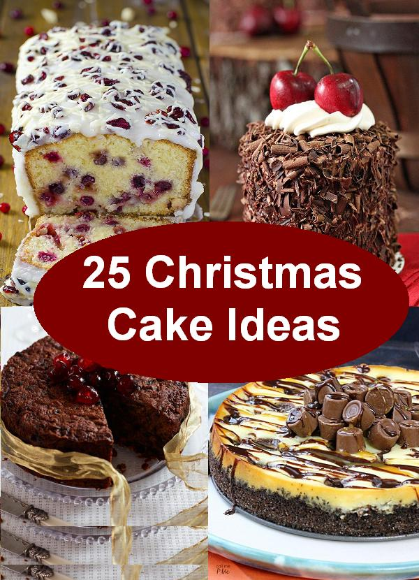 25 christmas cake ideas for pinterest folks - Christmas Dessert Decorations