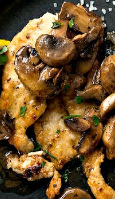 lemon-and-garlic-chicken-with-mushrooms