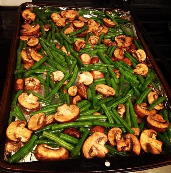 roasted-green-beans-with-mushrooms