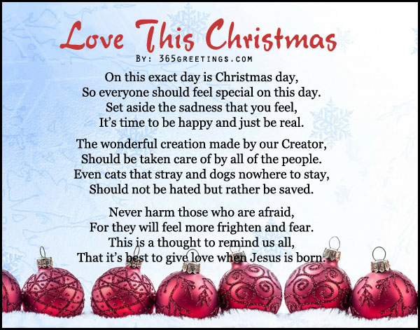 christmas poems for cards