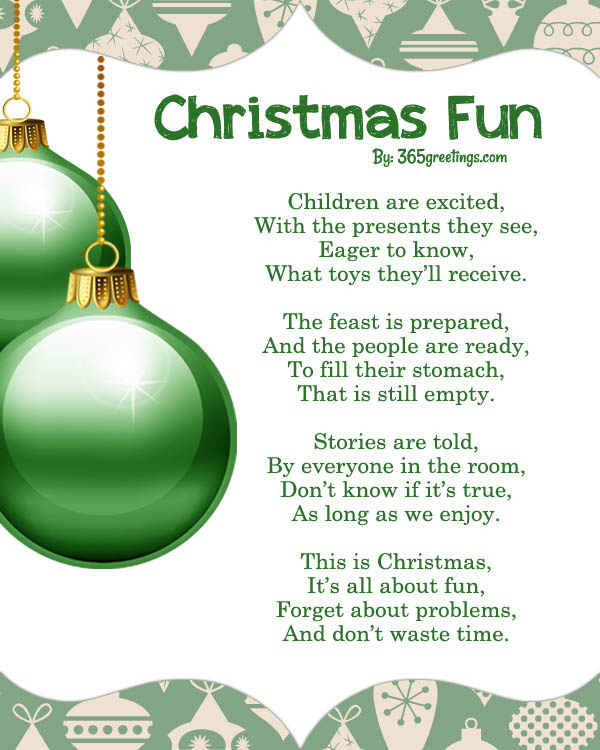 Christmas fun poems All About Christmas