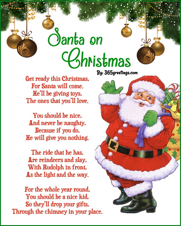 Best christmas poems all about christmas santa on christmas spiritdancerdesigns Images